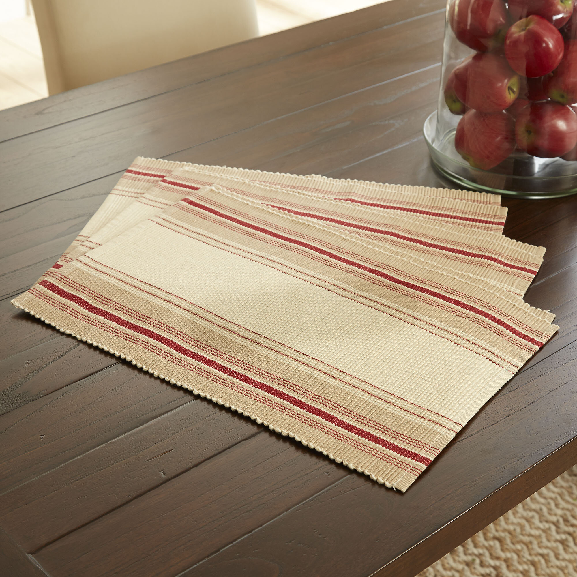 Picture of: Beavercreek Striped 19 Cotton Placemat Reviews Birch Lane