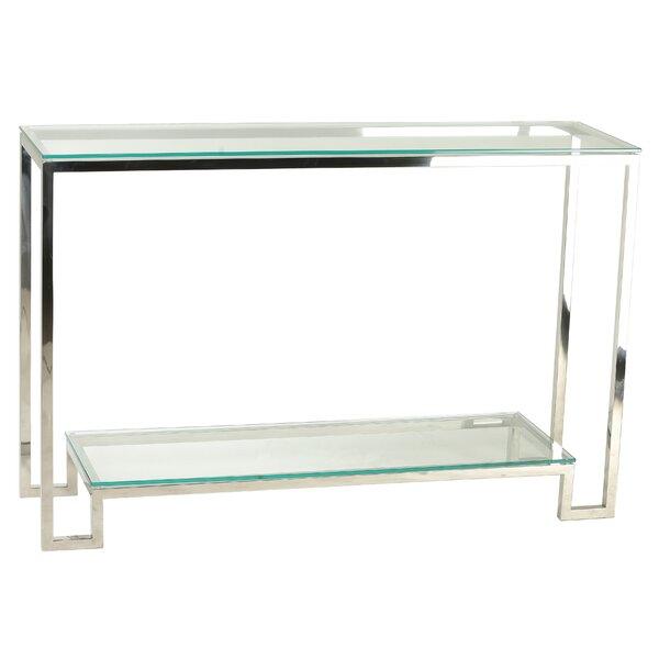 Shepler Contemporary 2 Shelf Glass Console Table By Mercer41
