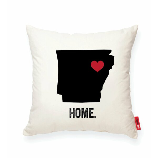 Pettry Arkansas Cotton Throw Pillow by Wrought Studio