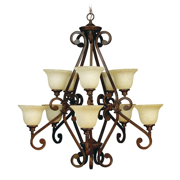 Whipkey 10 - Light Shaded Tiered Chandelier by Fleur De Lis Living Fleur De Lis Living