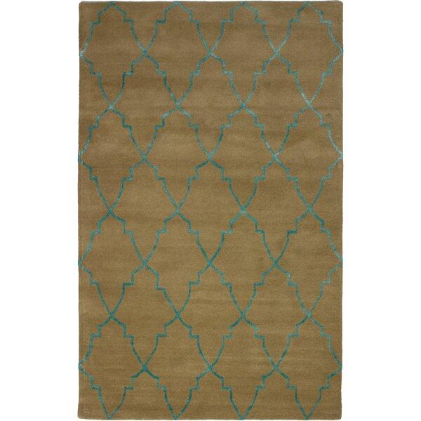 Helsley Hand-Tufted Light Brown Area Rug by Mercer41