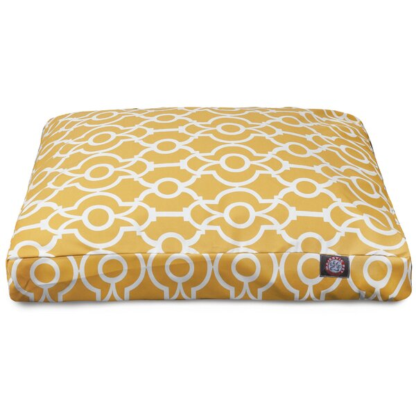 Athens Rectangle Pet Bed with Waterproof Denier Base by Majestic Pet Products