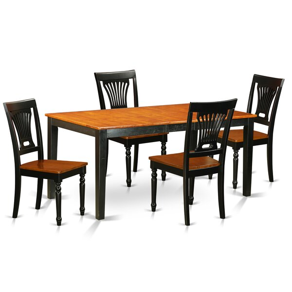 Cleobury 5 Piece Dining Set with Rectangular Table Top by August Grove