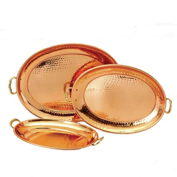 3 Piece Oval Serving Tray Set by Old Dutch International