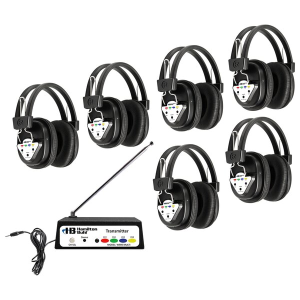 Multi Wireless Listening Center with 6 Headphones by Hamilton Buhl