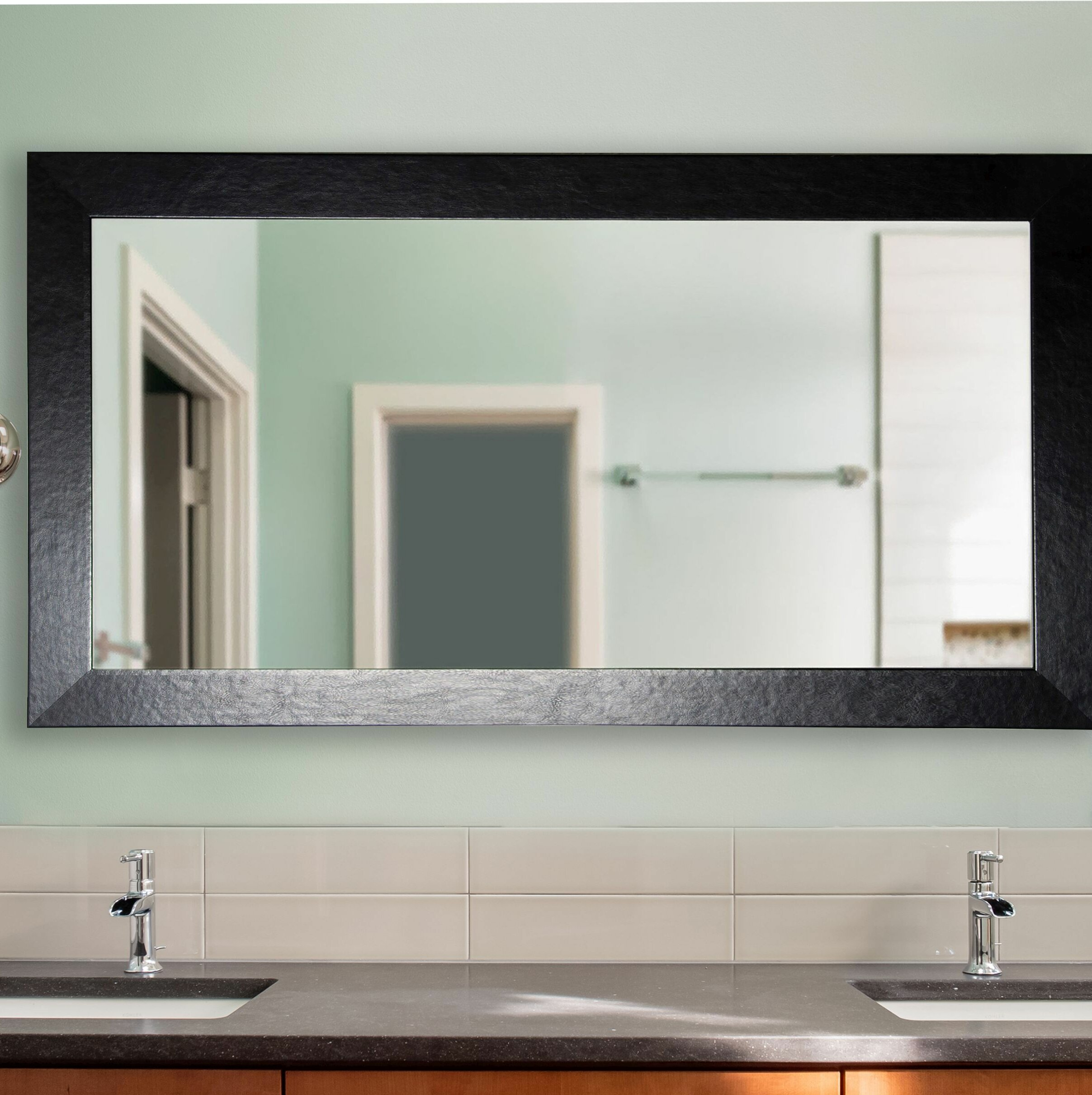 Red Barrel Studio Marpain Wide Bathroom Vanity Mirror Reviews Wayfair
