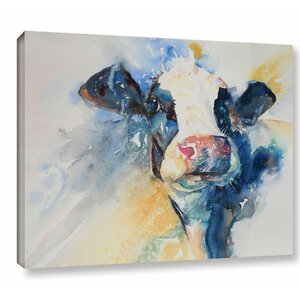 'Cow 9' Painting Print on Wrapped Canvas by Gracie Oaks