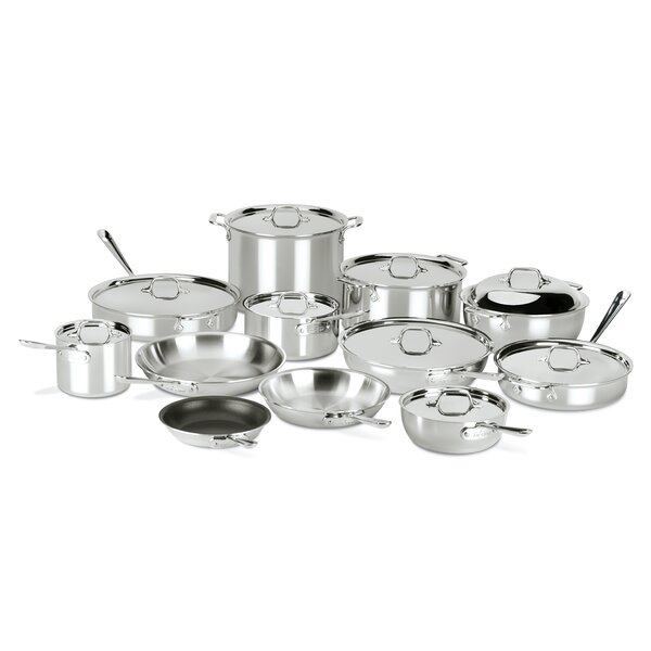 D3 Compact 21 Piece Nonstick  Stainless Steel Cookware Set by All-Clad