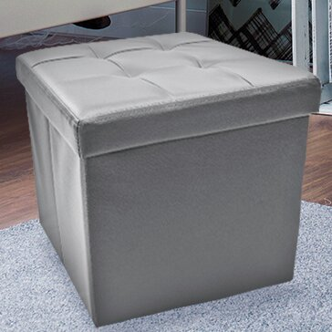 Briana Collapsible Storage Ottoman by Winston Porter