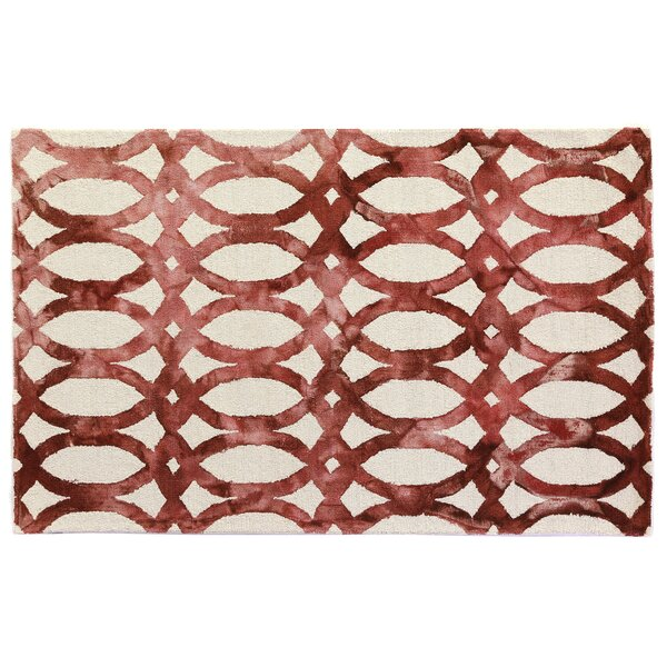 Dip-Dye Hand-Tufted Wool Red Area Rug by Exquisite Rugs