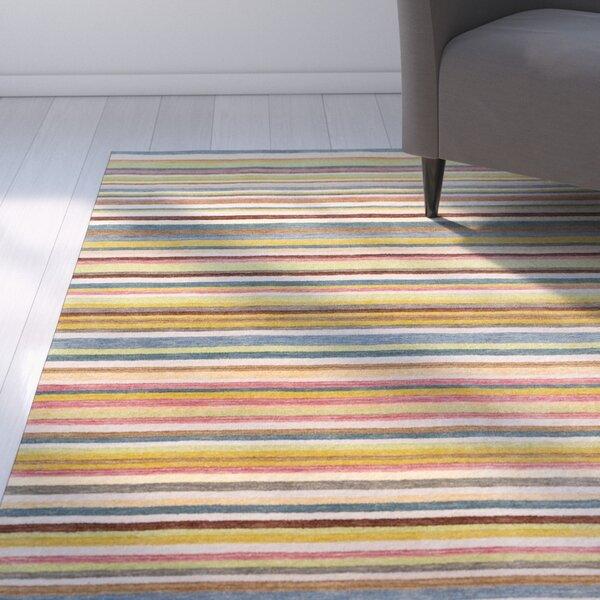 Mann Multi-Colored Striped Rug by Latitude Run