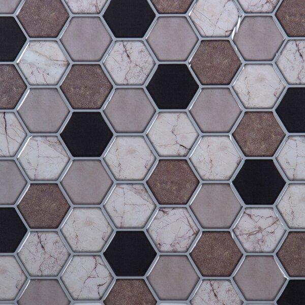 10 x 10 PVC Peel & Stick Mosaic Tile (Set of 6) by CTG Brands