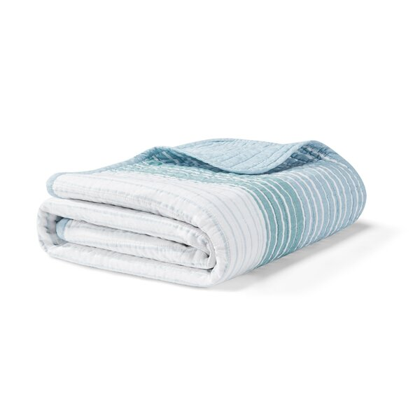 Banded Stripe Cotton Throw by Nautica