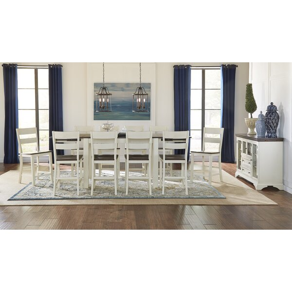 Aguero 11 Piece Counter Height Extendable Solid Wood Dining Set by Canora Grey Canora Grey