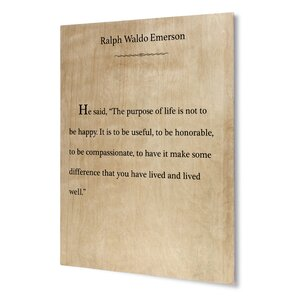 Be Useful, Be Honorable, Be Compassionate Textual Art on Plaque by KAVKA DESIGNS