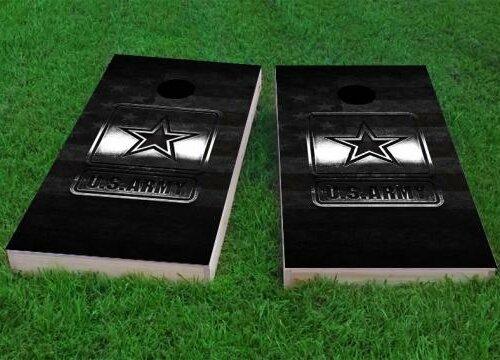 Army Logo Cornhole Game (Set of 2) by Custom Cornhole Boards