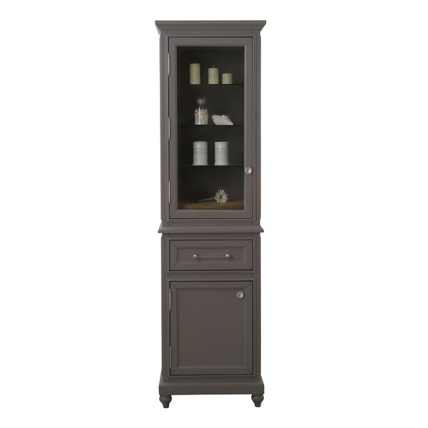 Hampstead 21 W x 72 H Linen Tower by Canora Grey