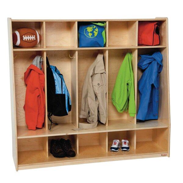 Tip-Me-Not 3 Tier 5 Wide Coat Locker by Wood Designs