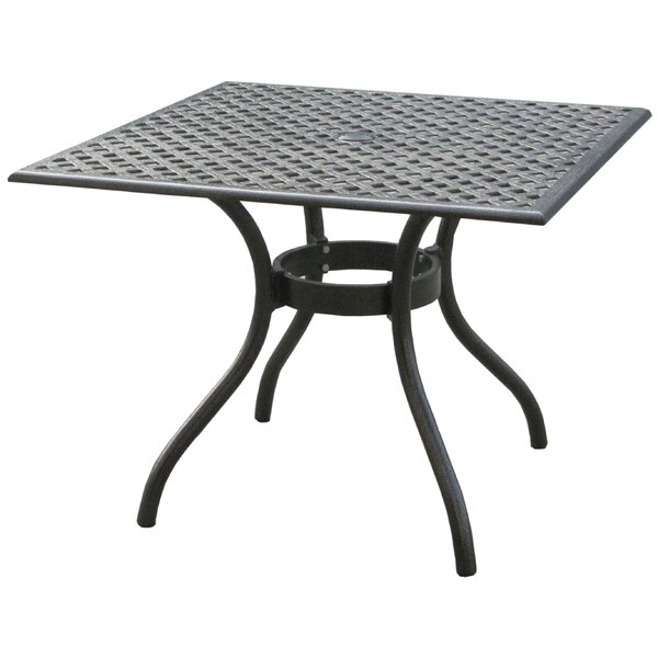 Thomasson Aluminum Square Table by Darby Home Co