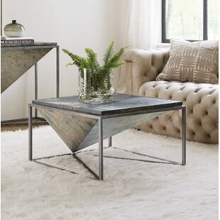Princess Cut Square Coffee Table with Tray Top