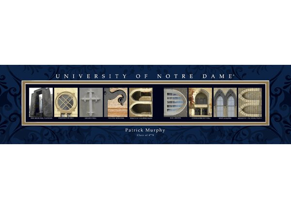 Personalized Gift College Campus Framed Memorabilia by JDS Personalized Gifts