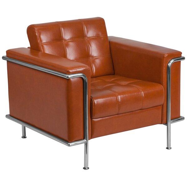Judah Contemporary Leather Lounge Chair by Orren Ellis