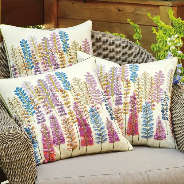 Lupine Cotton Throw Pillow by CompanyC