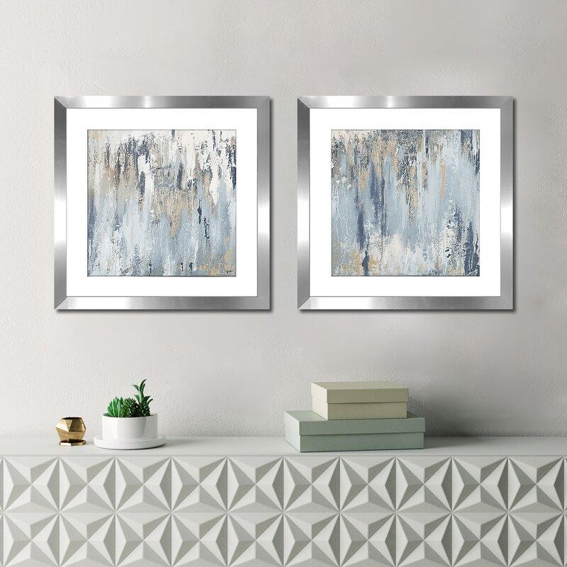 Bronx Blue Bedroom Project: Ivy Bronx 'Blue Illusion Square I' 2 Piece Framed Acrylic