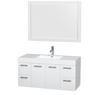 Online Reviews Amare 48 Single Bathroom Vanity Set with Mirror By Wyndham Collection