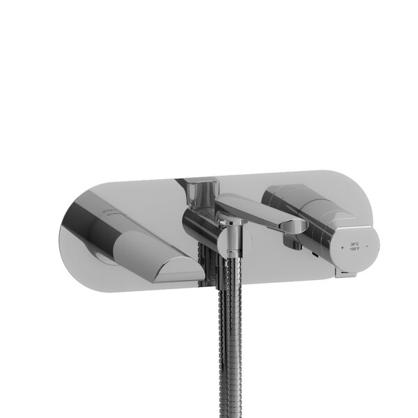 Parabola Single Handle Wall Mounted Roman Tub Faucet By Riobel