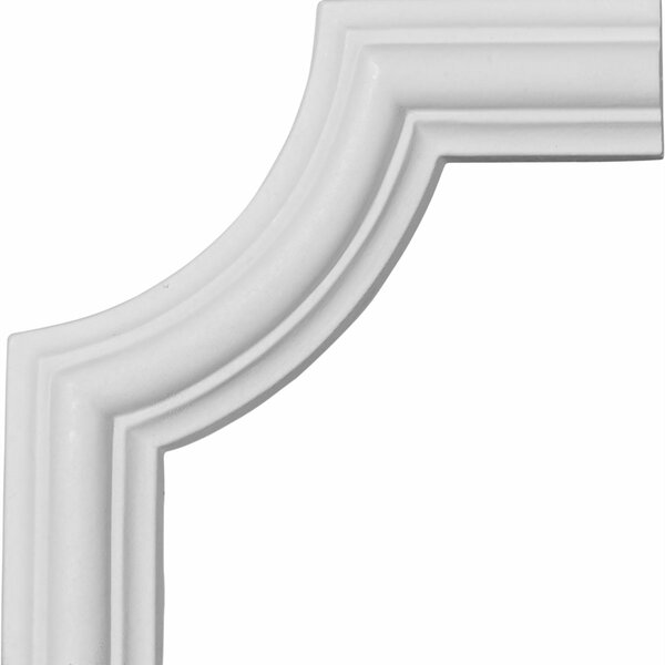 Bradford 4 1/8H x 4 1/8W Smooth Panel Moulding Corner by Ekena Millwork