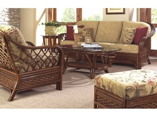Devries Deep Sunbrella Seating Group with Cushions by Bay Isle Home