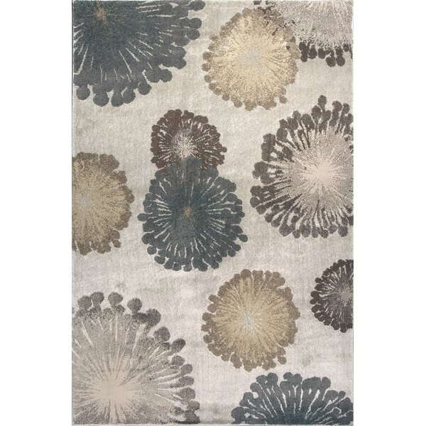 Timeless Silver Starburst Area Rug by Donny Osmond Home