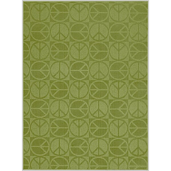 Lime Large Peace Indoor/Outdoor Area Rug by Garland Rug