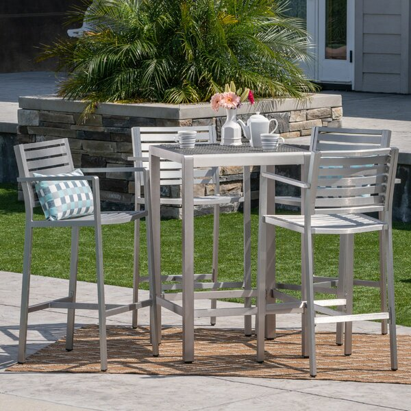 Outdoor 5 Piece Bar Set by Orren Ellis