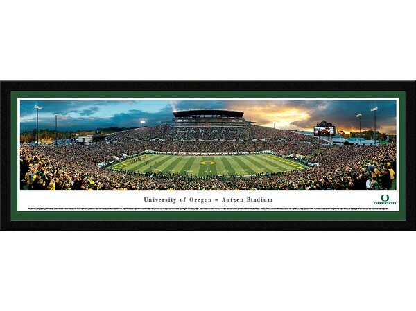 NCAA Oregon, University of - Football by James Blakeway Framed Photographic Print by Blakeway Worldwide Panoramas, Inc
