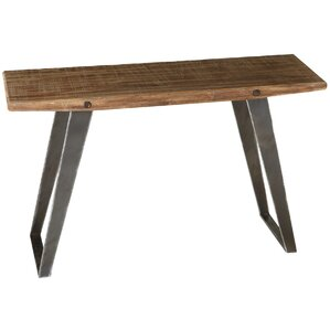 Carli Natural Wood Console Table by Union Rustic