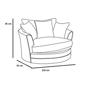 Los Angeles Swivel Tub Chair By Home Loft Concept