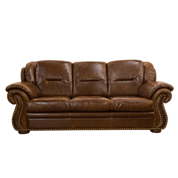 Limited Time Rosenberger Leather Sofa by Charlton Home by Charlton Home