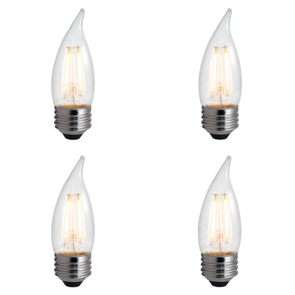 4W E26 Dimmable LED Candle Light Bulb (Set of 4) by Bulbrite Industries