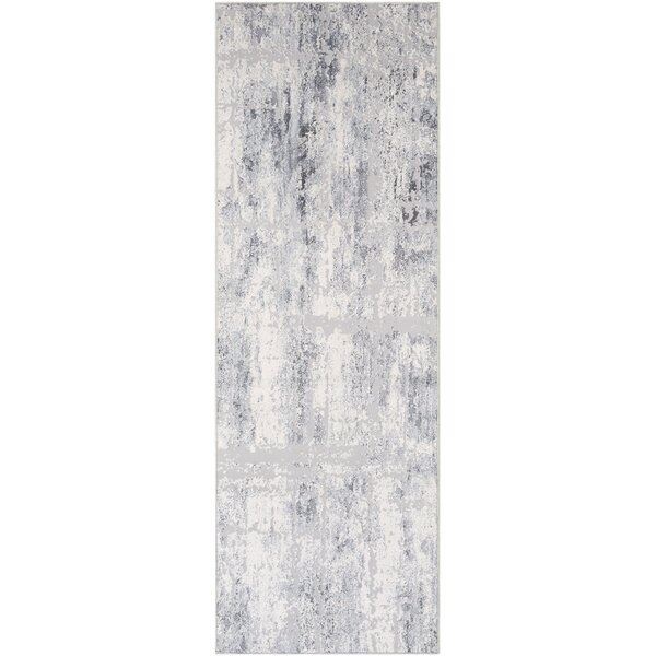 Heger Distressed Silver Gray/White Area Rug by Williston Forge