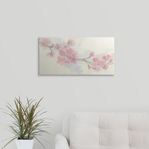 Cherry Blossom II by Chris Paschke Painting Print on Wrapped Canvas by Great Big Canvas