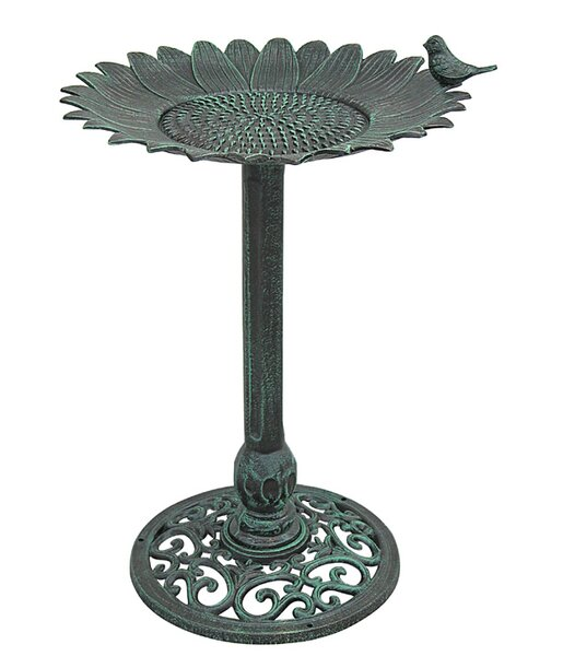 Sunflower Sunflower Birdbath by Innova Hearth and Home