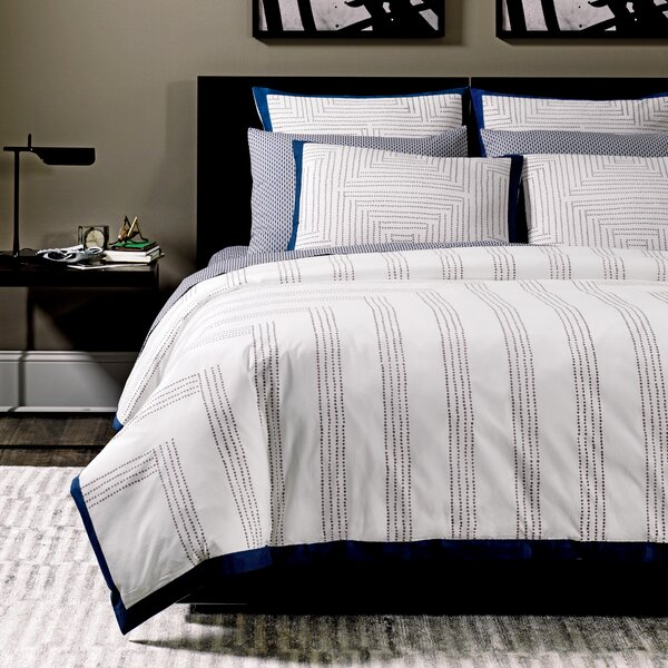 Maze Blockprint Duvet Cover by DwellStudio