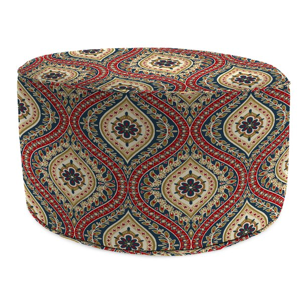 Wills Bead Fill Pouf Ottoman with Cushion by Winston Porter