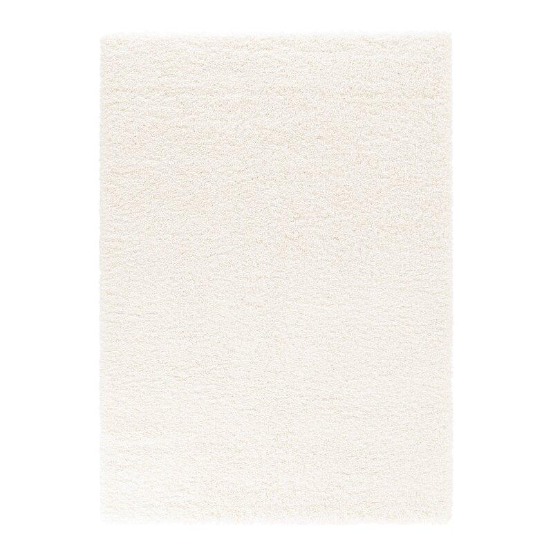 Fionnuala High Pile Plain Shaggy Cream Rug by 17 Stories