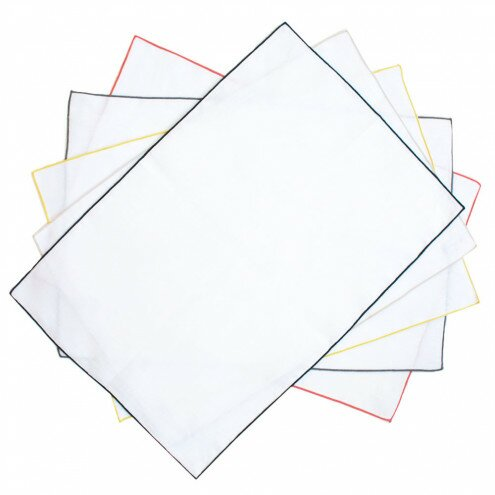 Ramer Flax Stitching Placemat (Set of 4) by Winston Porter