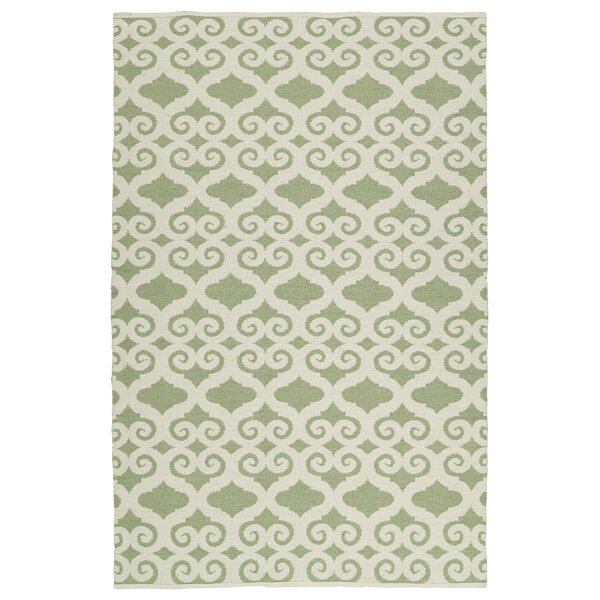 Covington Cream/Green Indoor/Outdoor Area Rug by Charlton Home