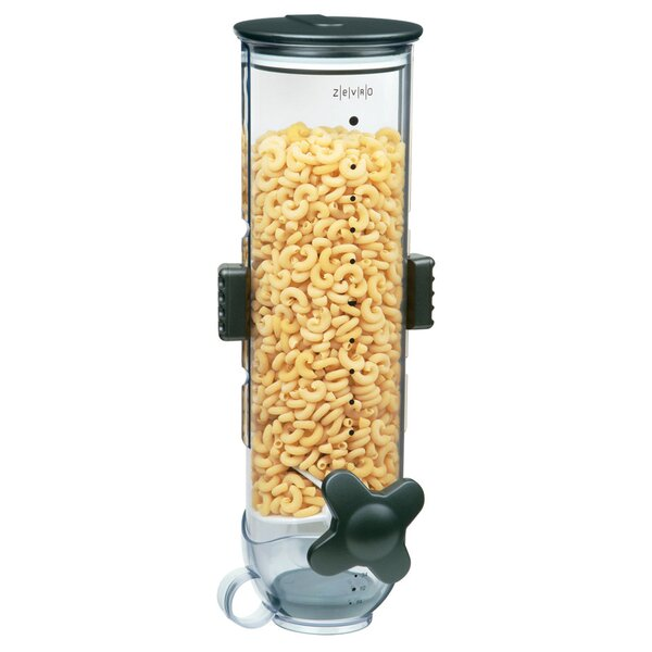 Single Wall Mount Dry Food 13 Oz. Cereal Dispenser by Zevro