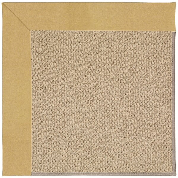 Lisle Machine Tufted Wheatfield/Beige Indoor/Outdoor Area Rug by Longshore Tides